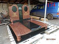Памятник двойной из гранита лезники и габбро, фото 1