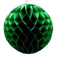 Бумажный шар соты 30 см малахитовый 0016
