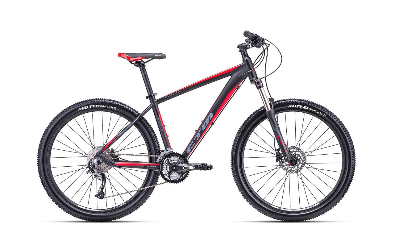 """Велосипед горный 27.5"""" CTM Swell 2.0 (рама 17"""", черно-красный)"""