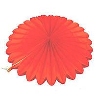 Веерный круг тишью 25 см красный 0007