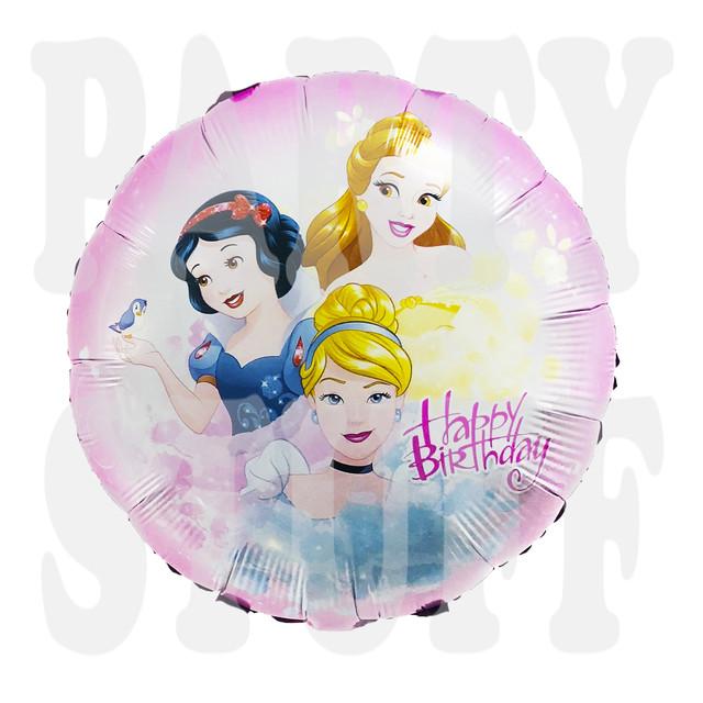Шарик фольгированный круглый Принцессы