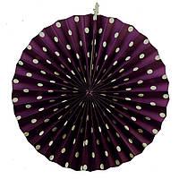 Веерный круг картон 40 см фиолетовый 0021