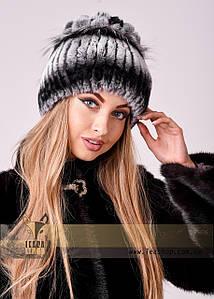 Жіноча зимова шапка з хутра кролика Рекс