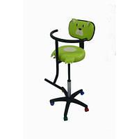 Детское парикмахерское кресло с аппликацией Медвежонок кожзаменитель Boom-19 (Frizel TM)