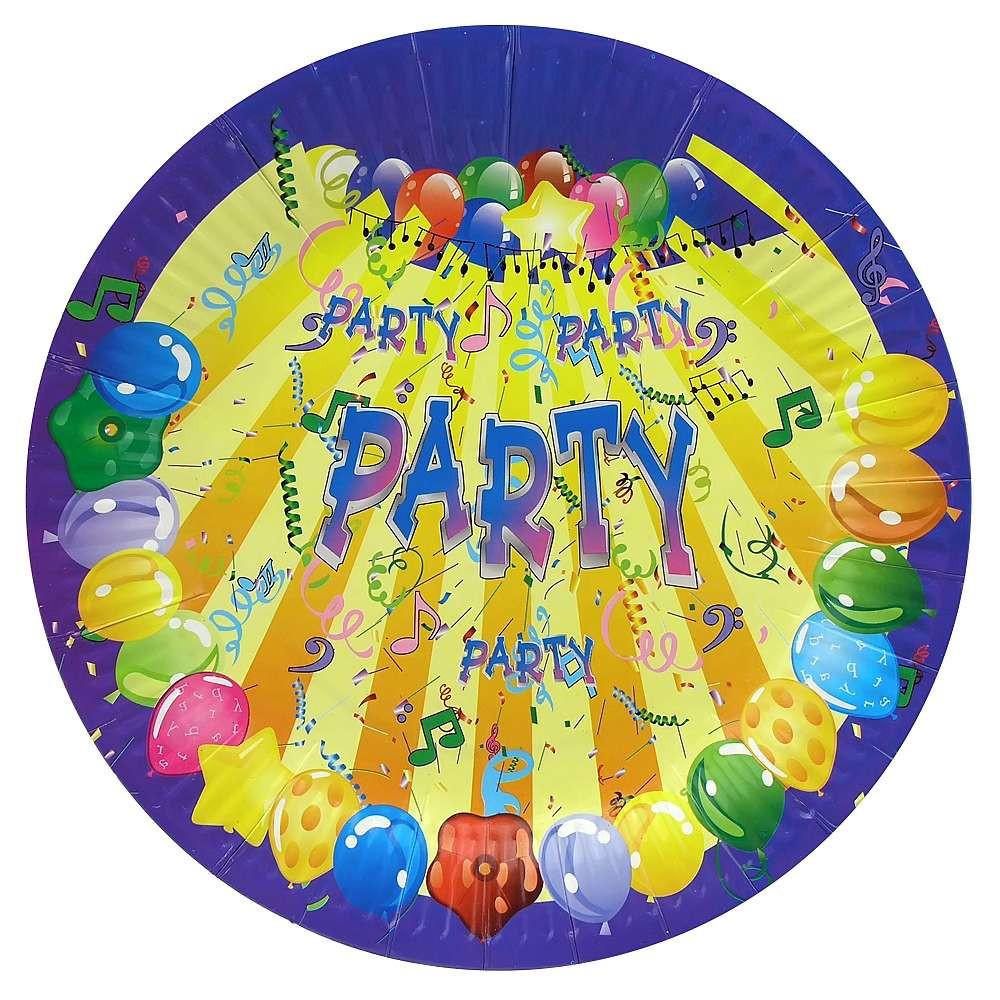 Бумажные тарелки диам.23 см Party уп. 10 шт