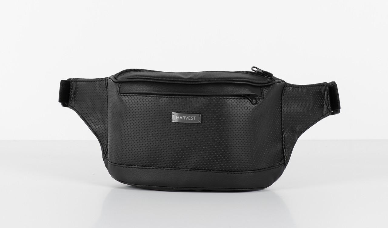 969fb6dbd412 Поясная сумка бананка черная PERF LARGE HARVEST (бананки, сумка на пояс,  мужская сумка