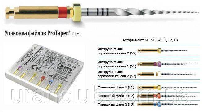 Протейперы машинные  ProTaper, Dentsply Maillefer Оригинал