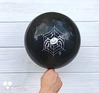 Шары с принтом паука в паутине