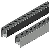 Профиль створки с отверстиями для прямоугольных ламелей 40*10,идет в паре правый и левый длина 2,5 м.