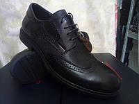 Стильные осенние кожаные туфли-броги Bertoni