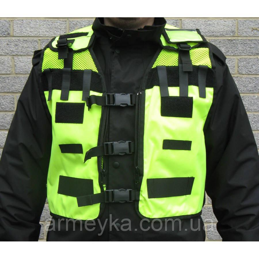 Разгрузочный модульный жилет Police, светоотражающий. Великобритания, оригинал.