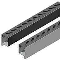 Профиль створки с отверстиями для прямоуголных ламелей 40*10,идет в паре правый и левый длина 3,0 м.