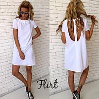 """Платье с открытой спиной """"Эмбер""""  Белый 42, 44, 46, фото 1"""