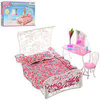 Мебель для кукол спальня, кровать, трюмо, стул в коробке