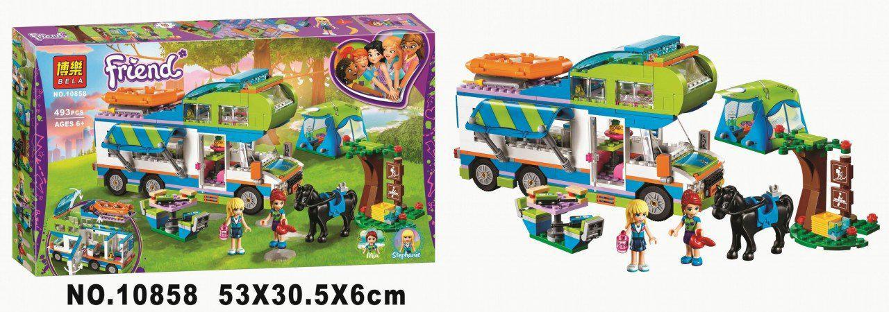 "Конструктор BELA 10858 Friends (Аналог Lego Friends 41339) ""Дом на колёсах"","