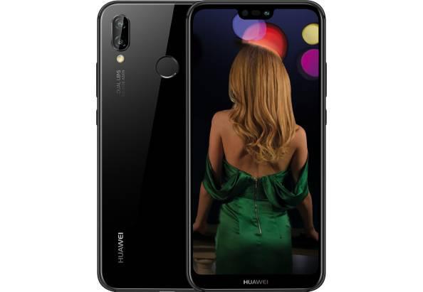 """Смартфон на 2 сим карты с двойной камерой и сканером отпечатка пальца 5,84"""" 4/64Gb Huawei P20 Lite черный"""