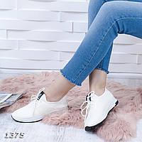 Крутые белые кроссовки, материал: стрейч + резина