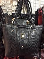 Женская сумка с тиснением под крокодила new season