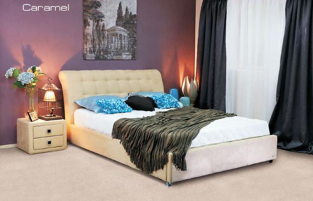 Кровать двуспальная Кофе-Тайм 1600 карамель