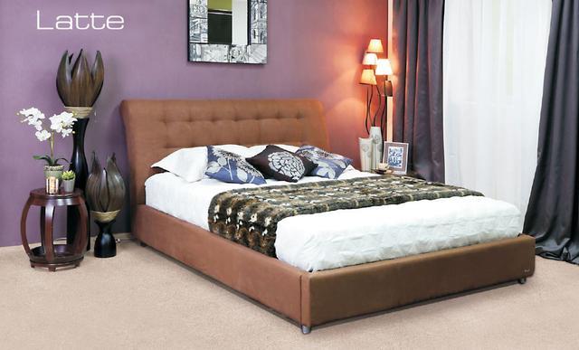 Кровать двуспальная Кофе-Тайм 1600 капучино