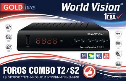Ресивер наземного и спутниковоговещания World Vision Foros T2/S2, фото 2