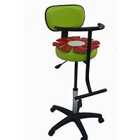 Детское парикмахерское кресло с аппликацией Цветок кожзаменитель Boom-19 (Frizel TM)