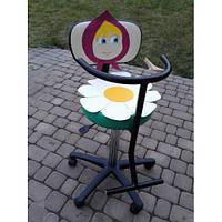 Детское парикмахерское кресло с аппликацией Маша кожзаменитель Boom-04+19 (Frizel TM)