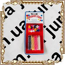 Свечки праздничные Peppermint Stripe (24 шт)