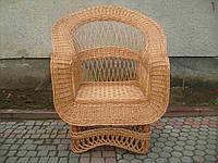 Кресло плетеное из лозы по кругу