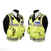 Поліцейський розвантажувальний жилет (сітчаста основа), світловідбиваючий. Великобританія, оригінал.
