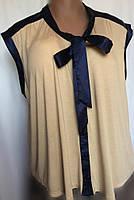 Женская блуза George из мягкого вискозного трикотажа и атласа, очень большой размер 26(58/60), фото 1