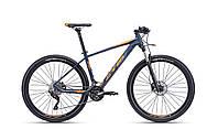 """Велосипед горный CTM Caliber 1.0 (matt petroleum / orange)(27.5"""") 19"""""""