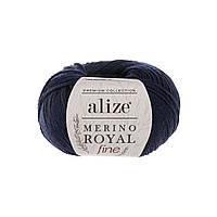 Пряжа 100% шерсть нитки для вязания Alize Merino Royal Fine