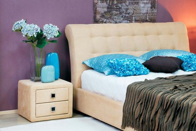 Кровать двуспальная Кофе-Тайм 1600 карамель (изголовье)