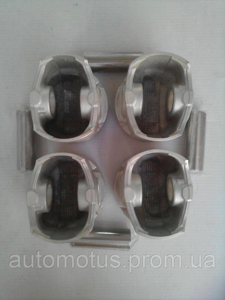 Поршня + пальци комплект ремонт +0,50  4шт 1.6L