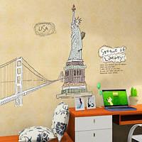 Интерьерная наклейка на стену Нью Йорк, Статуя Свободы