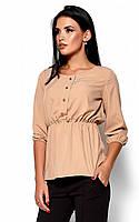 (S, M, L) Стильна бежева блузка Orlanda