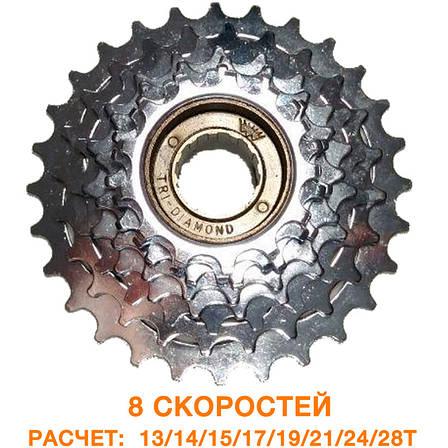 Кассета трещотка 8 скоростей 13 / 28т (PIA 113), фото 2
