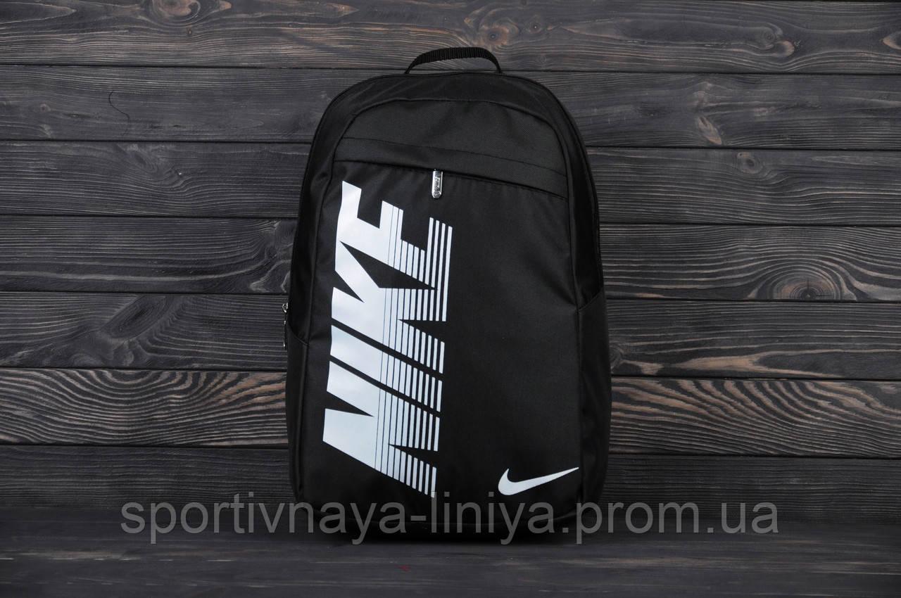 Спортивный черный рюкзак Nike Pioneer (реплика)