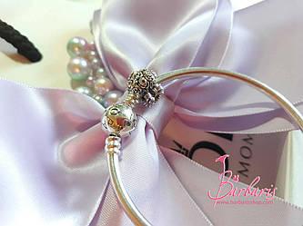 Серебряный шарм Букет роз копия Pandora