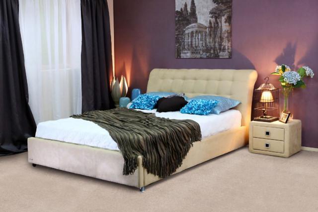 Кровать двуспальная Кофе-Тайм 1800 карамель (фото 2)