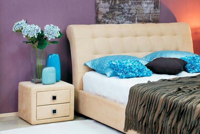Кровать двуспальная Кофе-Тайм 1800 карамель (изголовье)