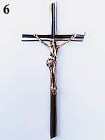 Латунный крест с распятием h=200 мм