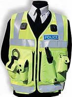 Поліцейський розвантажувальний жилет (нейлонова основа), світловідбиваючий. Великобританія, оригінал.