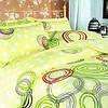 Комплект постельного белья ТЕП  евро размер Круги цветные