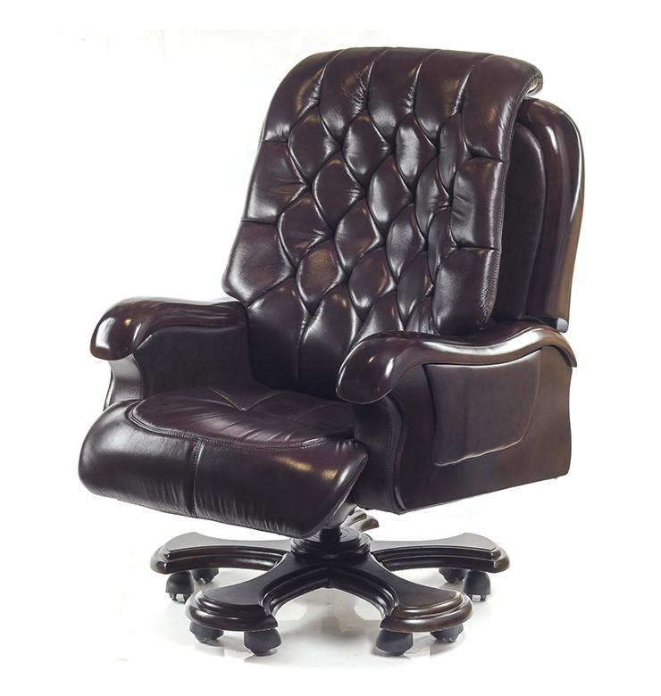Кресло АКЛАС Цезарь CH RL Темно-коричневое