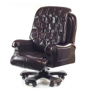 Кресло АКЛАС Цезарь CH RL Темно-коричневое, фото 2
