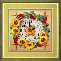 Набор для вышивки лентами Часы. Гроздья калины ЧНЛ-2002