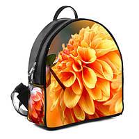 Модный женский черный рюкзак с принтом Солнечный цветок