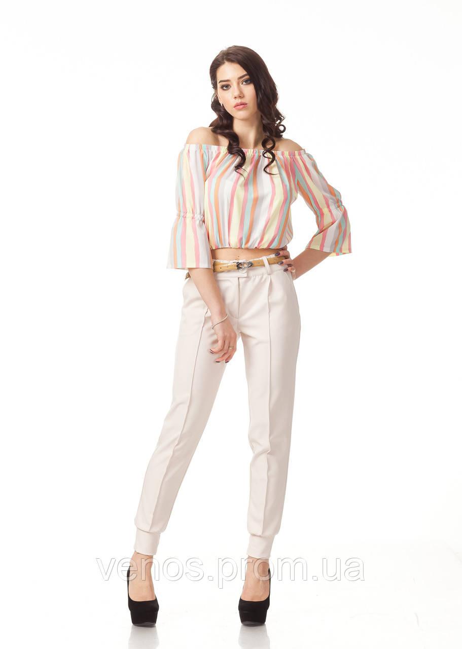 Женские брюки с манжетами. БР023